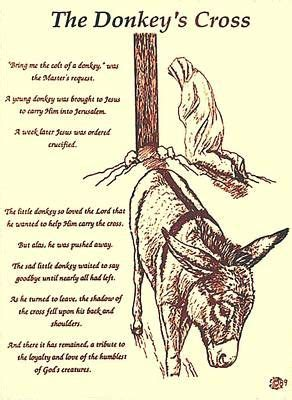 The Donkey's Cross by Mary Singer   Christian drawings