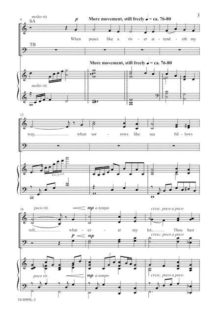 It Is Well With My Soul By Lloyd Larson - Octavo Sheet