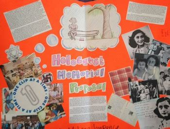 Holocaust / Diary of Anne Frank Memorial Project by Middle
