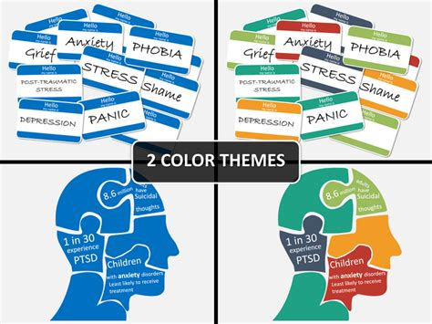 Mental Health PowerPoint Template   SketchBubble