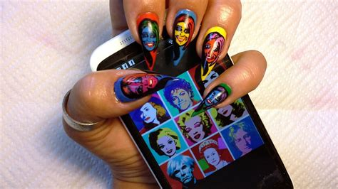 Pop Art Nail Art for Beginners - Nail Art Gallery Step-by