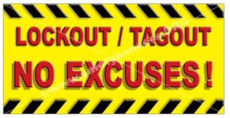 Lockout Tagout Safety Banners & Posters