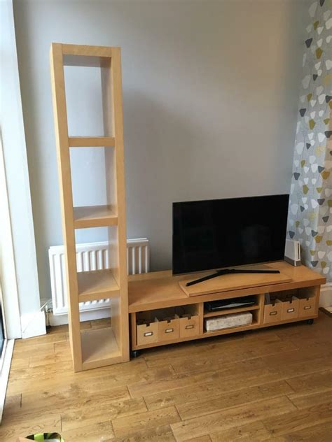 Ikea tv stand, bookcase and 3 storage units | in Whitley