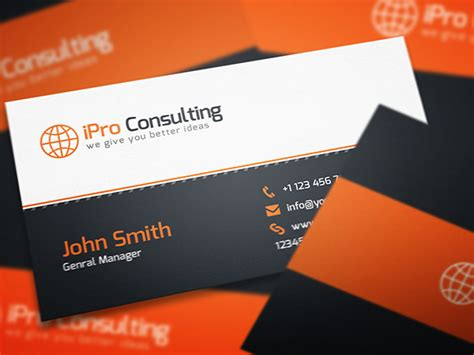 Consulting Business Card psd template - Free Graphics