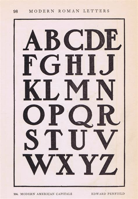 Antique Alphabet Font from early 1900's   Knick of Time