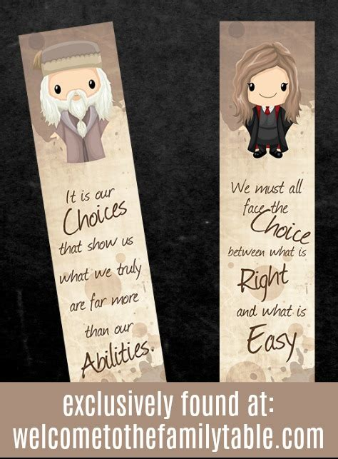 Printable Harry Potter Bookmarks + Book Labels - Welcome