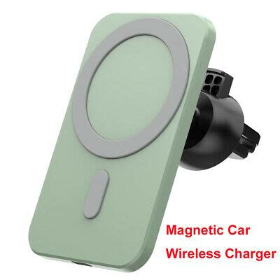 Fast 15w Digital Qi Magnetic Car Wireless Charger Air Vent
