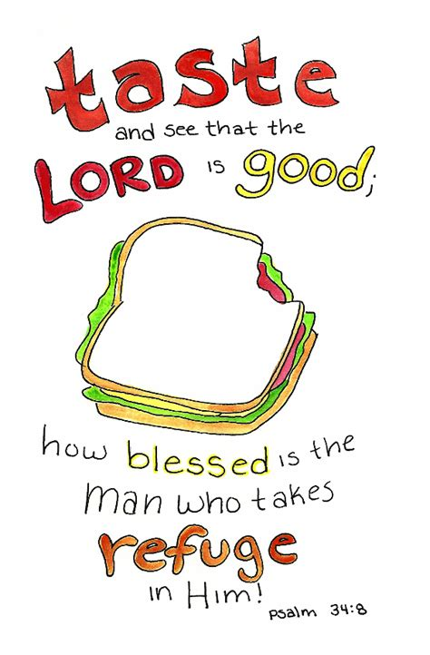 Doodle Through The Bible: Psalm 34:8