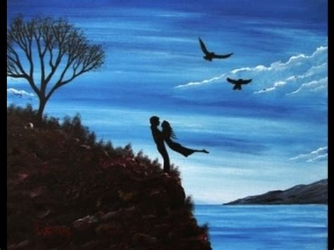 Acrylic Painting on Canvas Easy & Simple - Couple in Love