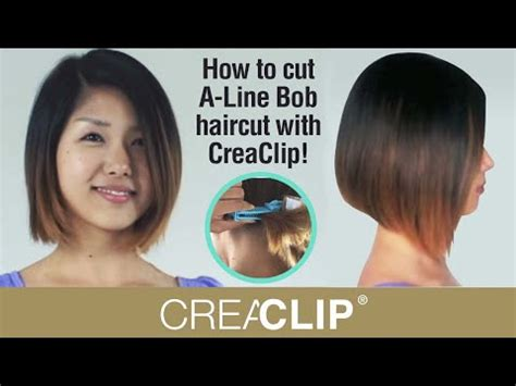 How to cut an A-line bob hairstyle on your self at home
