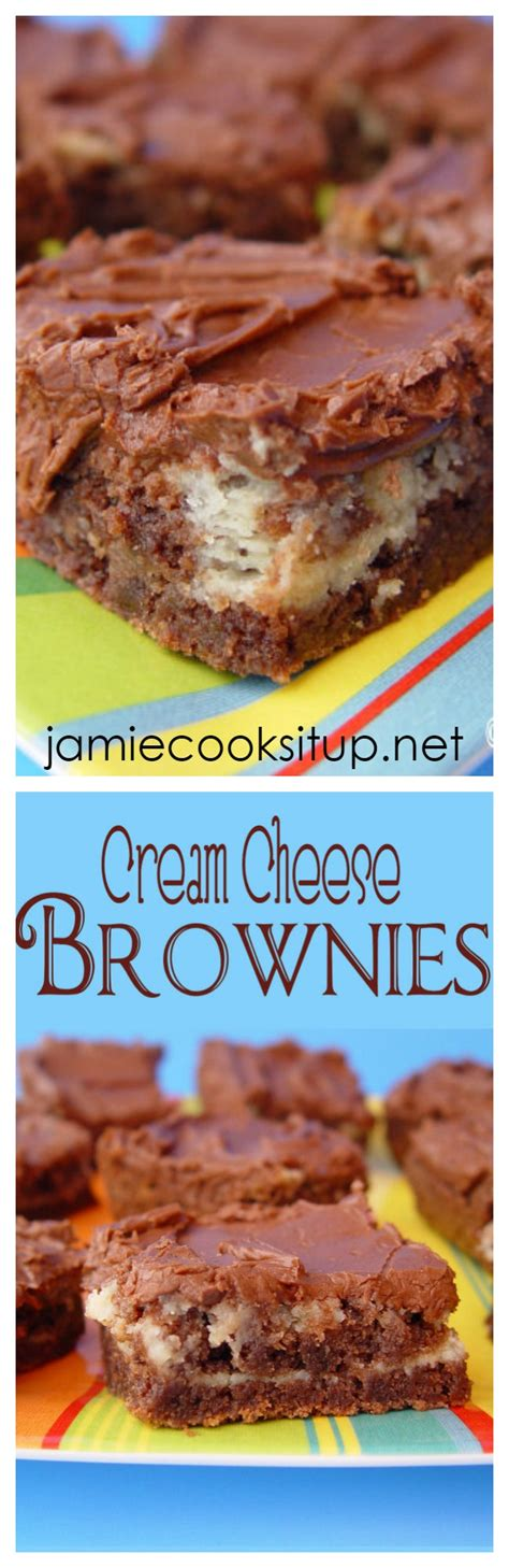 Cream Cheese Brownies with Chocolate Frosting