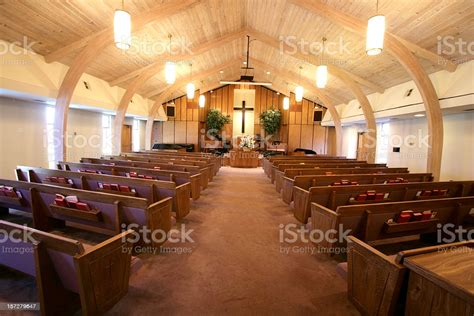 Small Church Sanctuary Stock Photo & More Pictures of