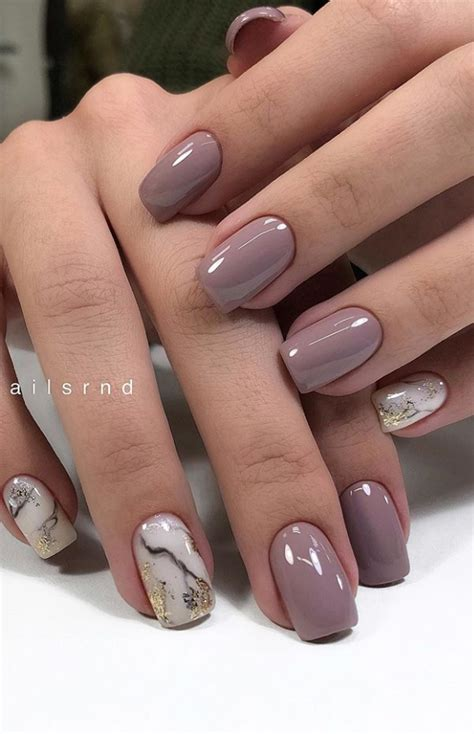 30 Beautiful Natural Short Square Nails Design For Early