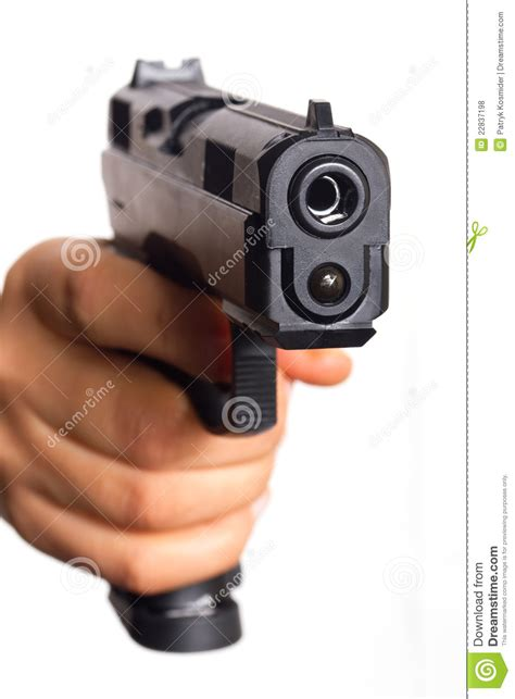 Hand Gun Pointed On You Royalty Free Stock Photos - Image