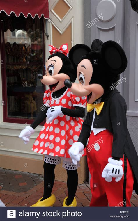 Minnie and Mickey Mouse at Disneyland California USA Stock