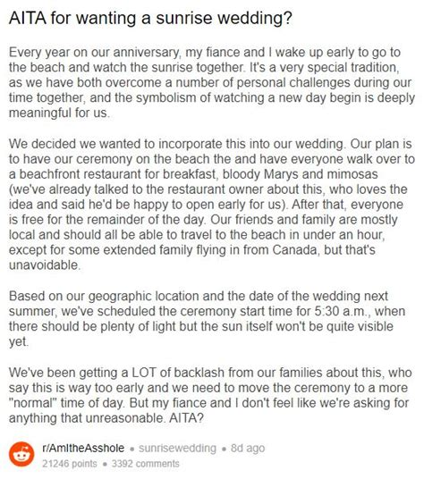 Bride Upset That Her Guests Don't Want to Attend Her 5