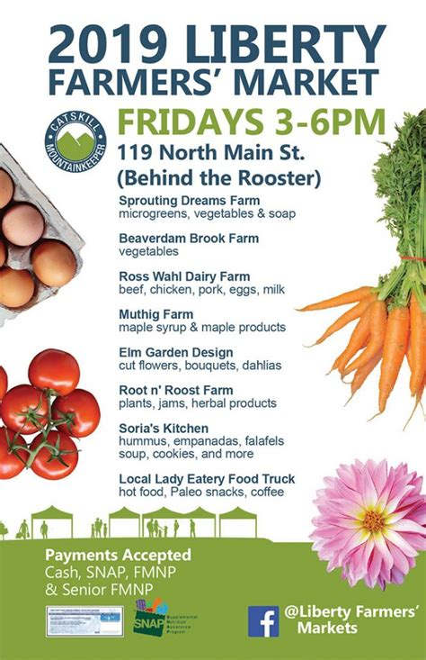 2019 Liberty Farmers' Market Schedule & Vendors | Town of