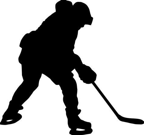 8 Hockey Player Silhouette (PNG Transparent) | OnlyGFX