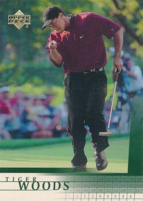 2001 Upper Deck Golf Tiger Woods #1 Boxing & Other - VCP